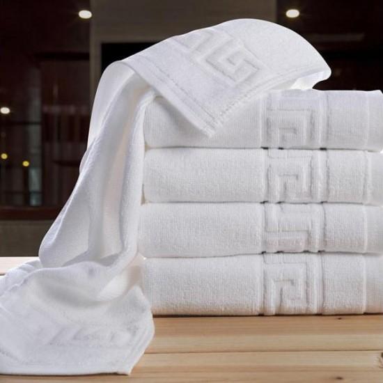 Prosop hotel, alb, model Greek, 100% bumbac, 550gr